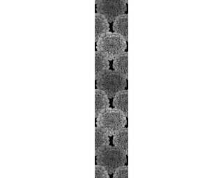 Livingwalls Designpanel «Floral, Grau, Metallics, Schwarz» 942482