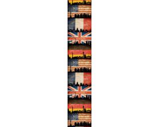 Livingwalls panneau «Graphique, beige, noir, rouge» 942491