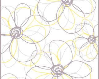 Livingwalls Designpanel «Grafik, Gelb, Grau, Weiß» 942531