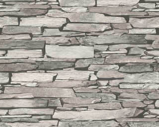 Lutèce Wallpaper «Stone, Beige, Black, Grey» 943118