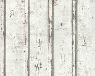 Lutèce papier peint «Bois, Maison, blanc, crème, gris» 953701