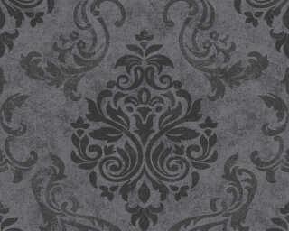 A.S. Création papier peint «Baroque, argent, gris, métallique, noir» 953723