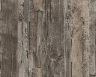 Lutèce papier peint «Bois, Maison, marron» 954051