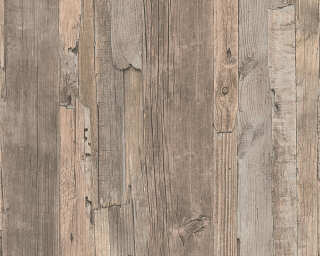 Lutèce papier peint «Bois, Maison, beige, marron» 954053