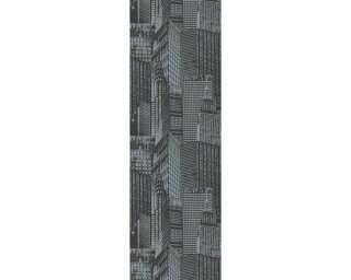 Livingwalls panneau «Graphique, blanc, gris, noir» 955671