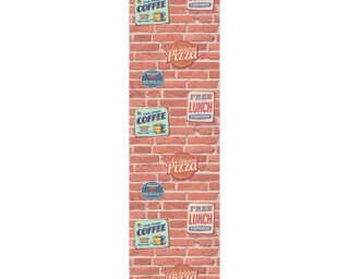 Livingwalls Обои-панели «Под камень, Бежевые, Коричневыe, Красные, Кремовые» 955681