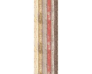 Livingwalls Designpanel «Holz, Landhaus, Beige, Braun, Creme, Gelb» 955691