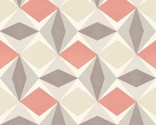 A.S. Création papier peint «Graphique, beige, marron, rouge» 957666