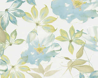Esprit Home Wallpaper «Flowers, Blue, Coloured, White» 958251