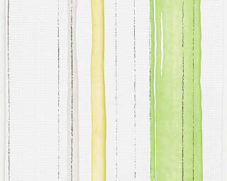 Esprit Home Wallpaper «Stripes, Coloured, Green, White» 958261
