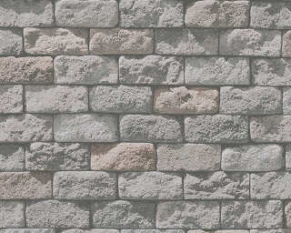 A.S. Création Wallpaper «Stone, Cottage, Beige, Cream, Grey» 958341