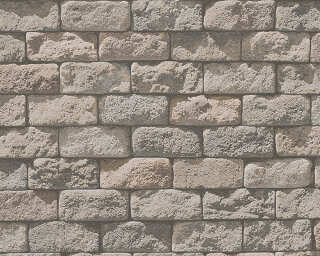 A.S. Création Wallpaper «Stone, Cottage, Beige, Cream» 958342