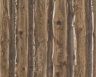 A.S. Création papier peint «Bois, Maison, beige, marron» 958371