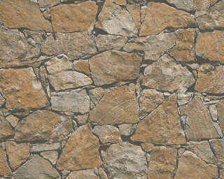 A.S. Création Wallpaper «Stone, Cottage, Beige, Black, Brown» 958631