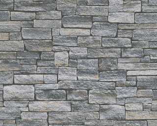 A.S. Création Wallpaper «Stone, Cottage, 3D, Black, Brown, Grey» 958711