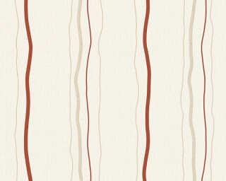 Livingwalls Tapete «Streifen, Beige, Creme, Rot» 958731
