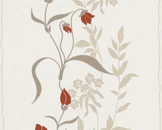 Livingwalls Tapete «Blumen, Beige, Braun, Rot» 958741