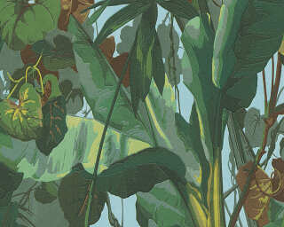 A.S. Création Wallpaper «Jungle, Blue, Brown, Green» 958981