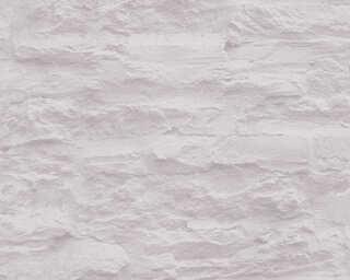 A.S. Création papier peint «Pierre, crème, gris» 959081