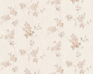 A.S. Création Wallpaper «Cottage, Flowers, Brown, Cream, White» 959282