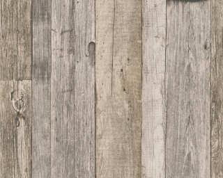 A.S. Création papier peint «Bois, Maison, beige, crème, noir» 959312