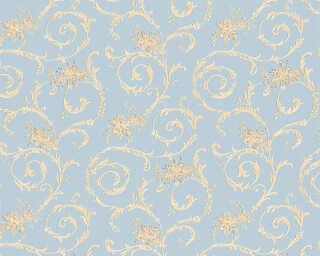 A.S. Création Wallpaper «Cottage, Beige, Blue» 959783