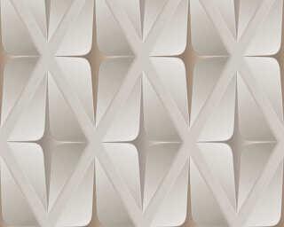 Livingwalls papier peint «Graphique, 3D, beige, marron» 960411