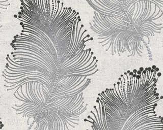 Livingwalls papier peint «Baroque, argent, blanc, métallique, noir» 960456