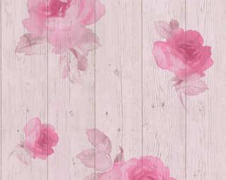 Livingwalls papier peint «Bois, crème, rose» 961121