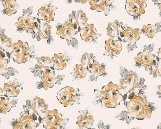 MICHALSKY LIVING Wallpaper «Floral, Grey, Yellow» 961333
