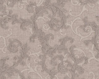 Versace Home Wallpaper «Baroque, Brown, Grey, Metallic» 962311