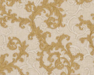 Versace Home Wallpaper «Baroque, Beige, Cream, Gold, Metallic» 962313