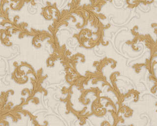Versace Home Wallpaper «Baroque, Gold, Grey, Metallic, White» 962314