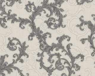 Versace Home Wallpaper «Baroque, Grey, Metallic, Silver, White» 962315