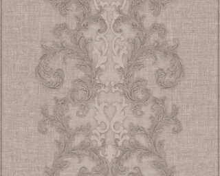 Versace Home Wallpaper «Baroque, Brown, Grey, Metallic» 962321
