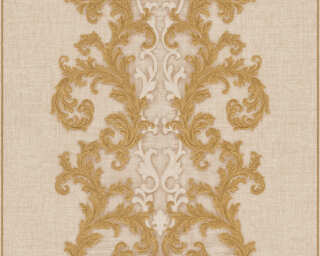 Versace Home Wallpaper «Baroque, Beige, Cream, Gold, Metallic» 962323