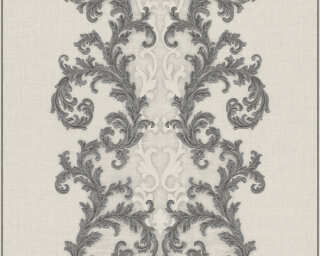 Versace Home Wallpaper «Baroque, Grey, Metallic, Silver, White» 962325