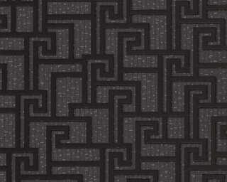 Versace Home Обои «Графика, Металлик, Серыe, Черные» 962363
