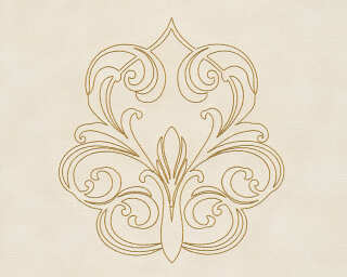 Architects Paper Design panel «Baroque, Cream, Gold, Metallic» 969833