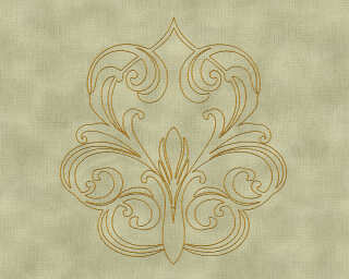 Architects Paper Design panel «Baroque, Gold, Green, Metallic» 969834