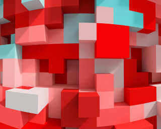 Fototapete «3D Cubes Red» DD108900