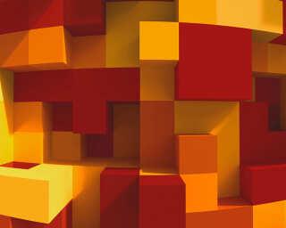 Architects Paper impression numérique «3DCubes Orange» DD108905