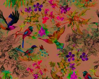 Photo wallpaper «funky birds 3» DD110186