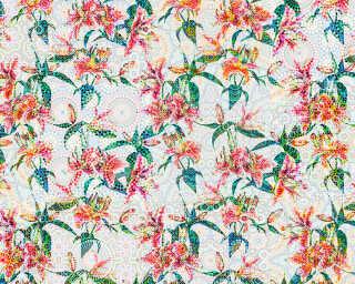 Photo wallpaper «mosaic lilies1» DD110211