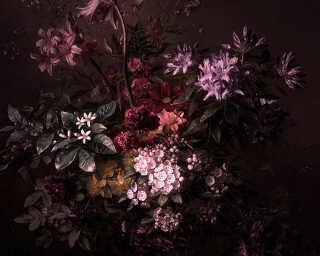 Fototapete «bouquet noir 1» DD110631