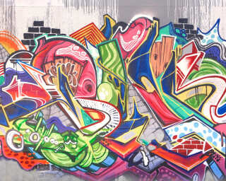 Livingwalls Fototapete «Graffiti» DD113161
