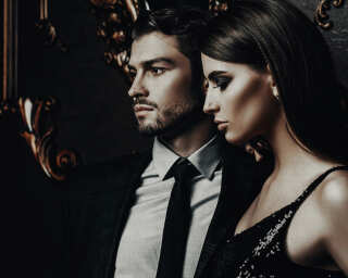 Kathrin und Mark Patel Fototapete «black tie 1» DD113258