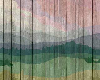 Kathrin und Mark Patel impression numérique «mountains 2» DD113717