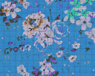 Kathrin und Mark Patel Fototapete «flower plaid 3» DD113832