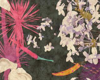 Photo wallpaper «vintageBouque2» DD114117